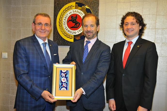 The Consul General of Argentina Mr. Rivera Visited Samsun CCI