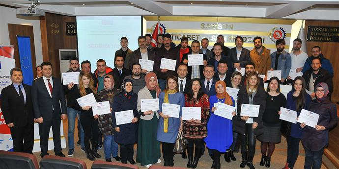 Entrepreneurs Awarded Certificates